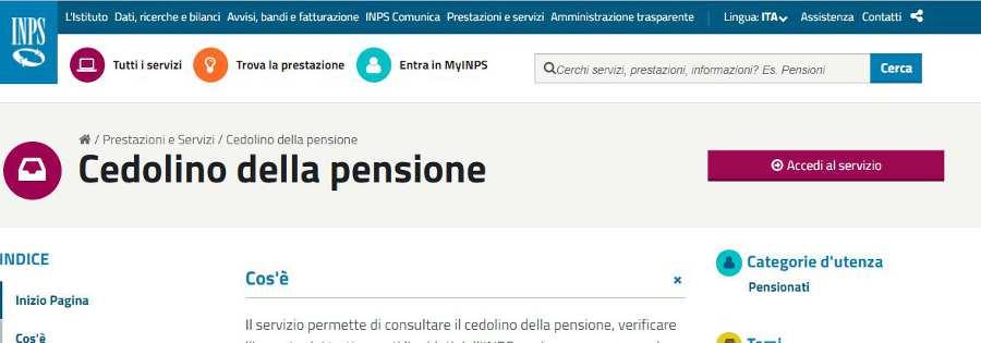 cedolino pensione inpdap
