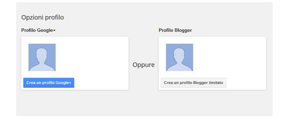 Creare un blog gratis con google: registrazione