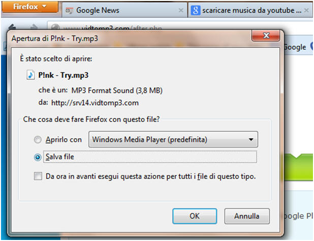 Scaricare musica da YouTube - step 6