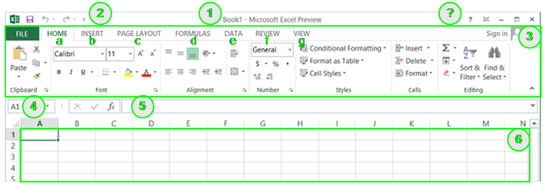 Intergaccia Microsoft Excel
