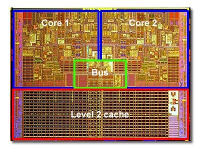Processore intel nel quale è possibile vedere la memoria cache