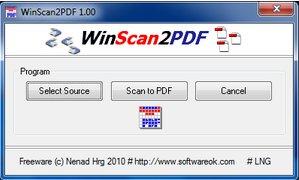 WinScan2Pdf - scannerizzare in pdf