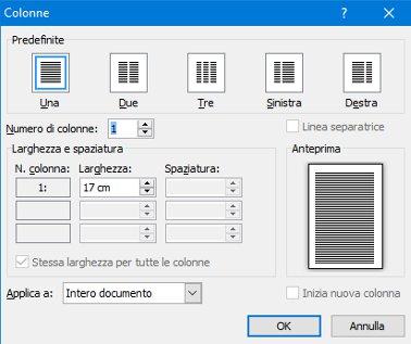 Come dividere un foglio Word in due o più parti