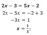 equazione di primo grado esercizio 6