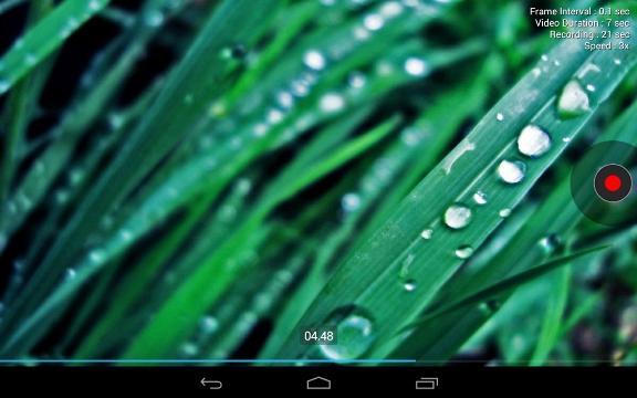 Screenshot dell'applicazione Framelapse