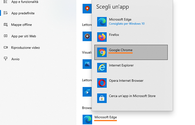 Impostare Firefox come browser predefinito su Windows 10