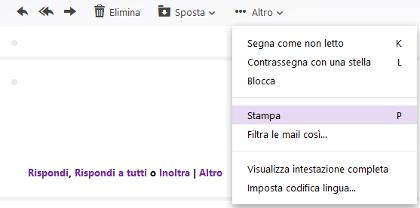 Come stampare una Mail con Yahoo - screenshot