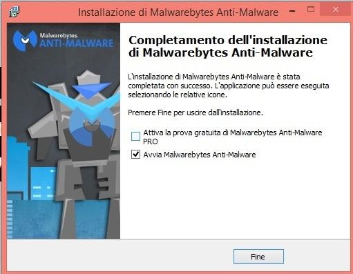 Rimuovere malware dal pc