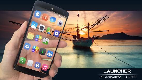 schermo trasparente launcher
