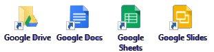Icone di Google Drive
