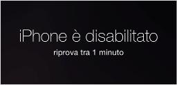 Come sbloccare iphone disabilitato - schermata