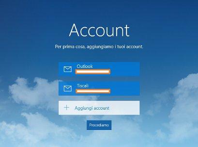 Configurazione della App Posta di windows 10