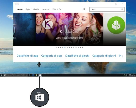 Novità windows 10 - app store